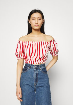 LOZIWE - Blouse - white/red