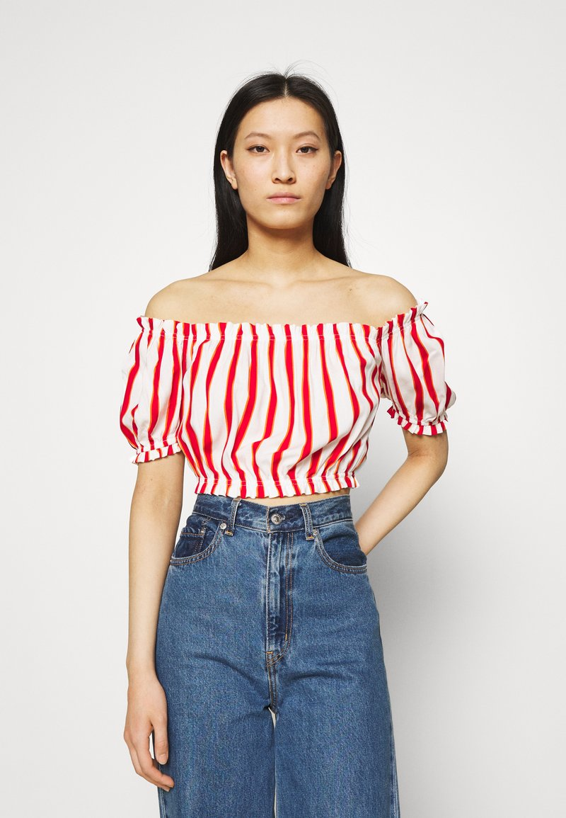 LTB - LOZIWE - Blouse - white/red