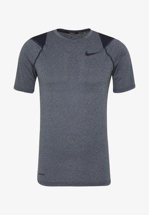 T-shirt print - obsidian heather/black
