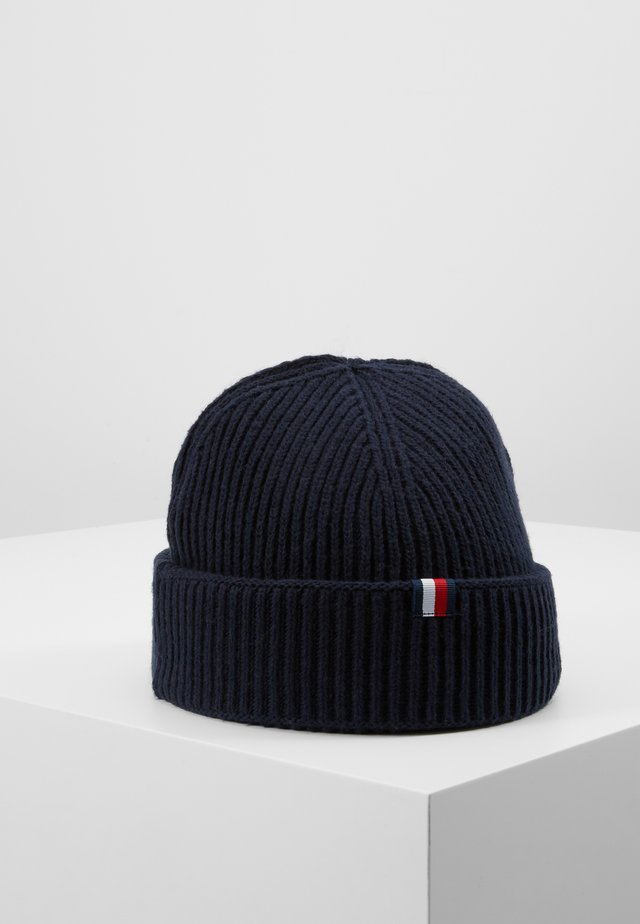 OUTDOORS PATCH BEANIE - Pipo - blue