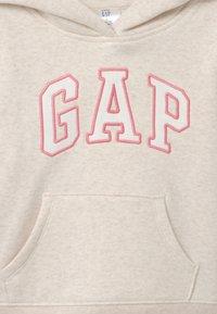 GAP - TODDLER GIRL LOGO  - Hoodie - mottled beige - 2