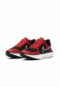 Nike Performance - REACT INFINITY RUN FK 2 - Neutral running shoes - bright crimson black dark smoke grey white - 1
