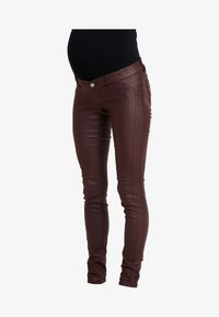 MAMALICIOUS - Jeans Slim Fit - decadent chocolate - 3