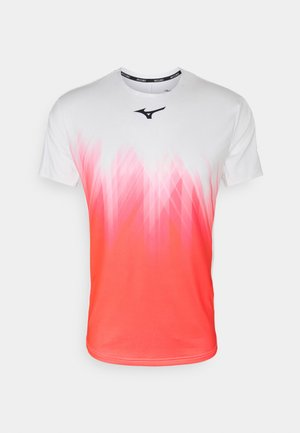 SHADOW GRAPHIC TEE - Triko s potiskem - white/ignition red