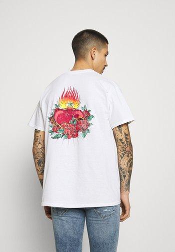 HAVANA TATTOO HEART - T-shirt med print - white