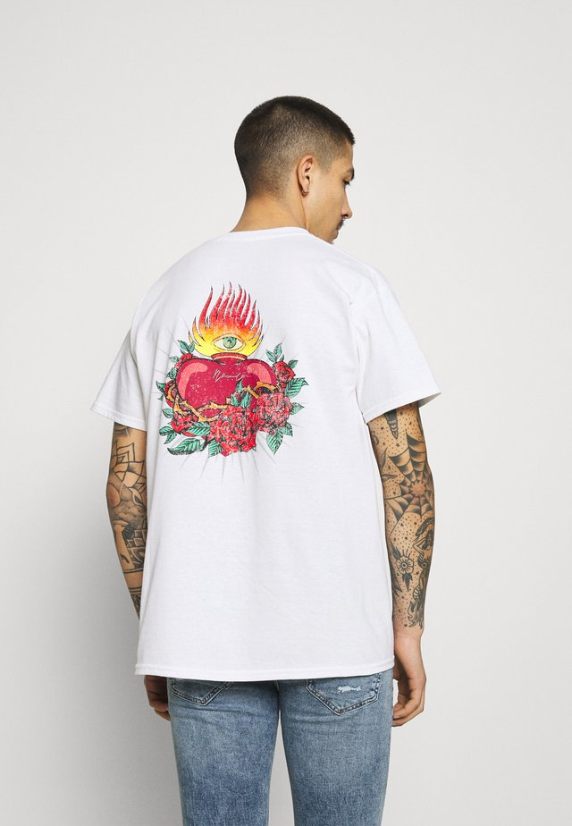HAVANA TATTOO HEART - T-shirt imprimé - white
