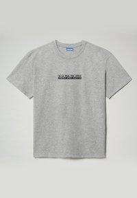 Napapijri - S-BOX  - Print T-shirt - medium grey melange - 0