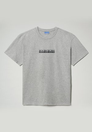 S-BOX  - T-shirt med print - medium grey melange
