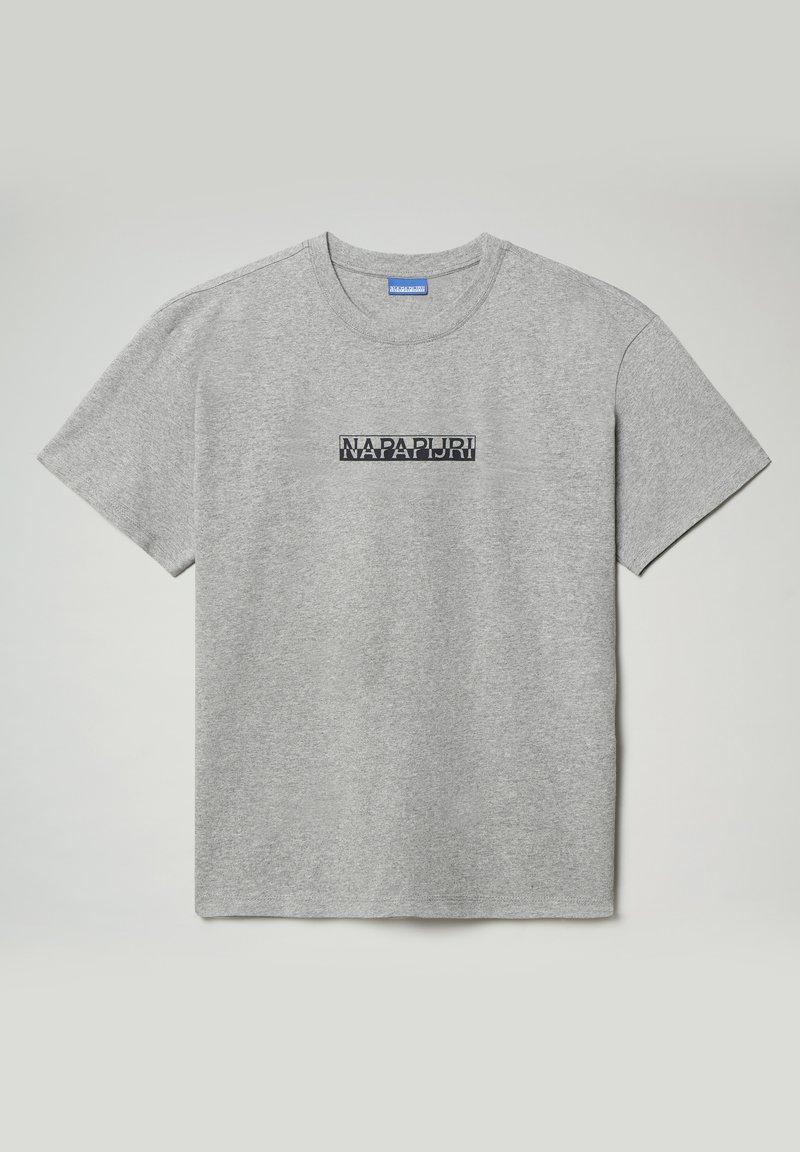 Napapijri - S-BOX  - Print T-shirt - medium grey melange