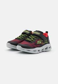 Skechers - VORTEX FLASH - Trainers - black/red/lime - 1