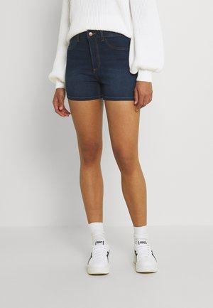 JDYTULGA LIFE HIGH MINI - Denim shorts - medium blue denim