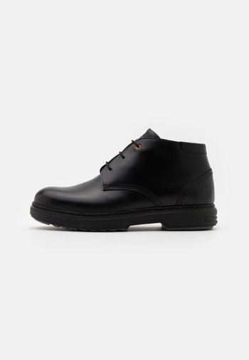 CHUKKA - Lace-up ankle boots - black