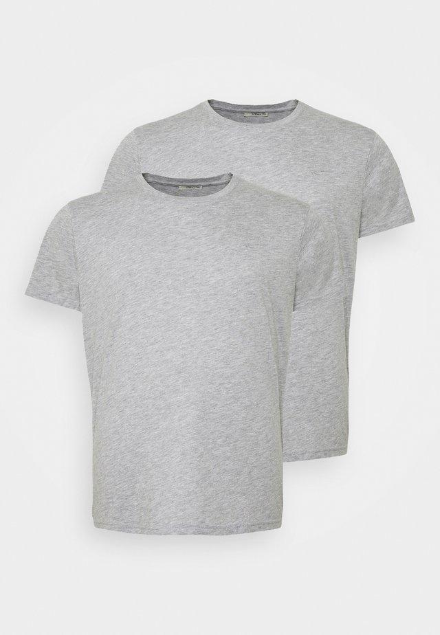 2 PACK  - Basic T-shirt - grey melange