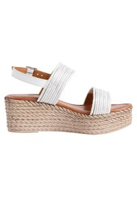 Jana - Platform sandals - white/silver - 4