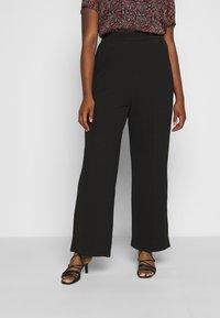 Vero Moda Curve - VMBLAIR WIDE PANT - Pantalon classique - black - 0
