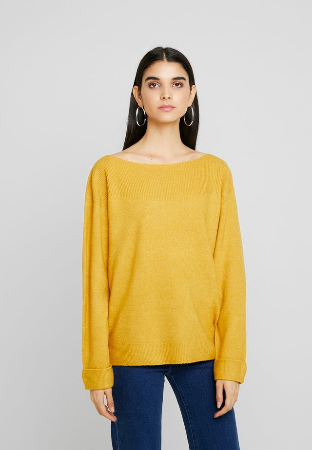 BASIC OFF SHOULDER - Strikkegenser -  ochre