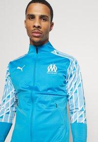 Puma - OLYMPIQUE MARSAILLE STADIUM JACKET - Club wear - bleu azur/puma white - 3