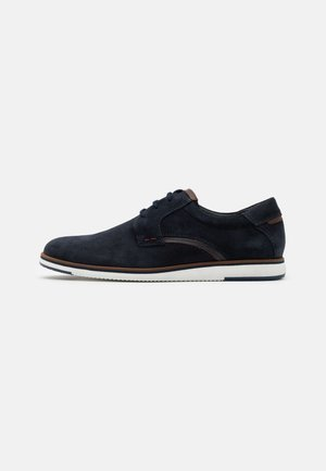 LEATHER - Sporty snøresko - dark blue