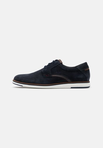 LEATHER - Zapatos con cordones - dark blue