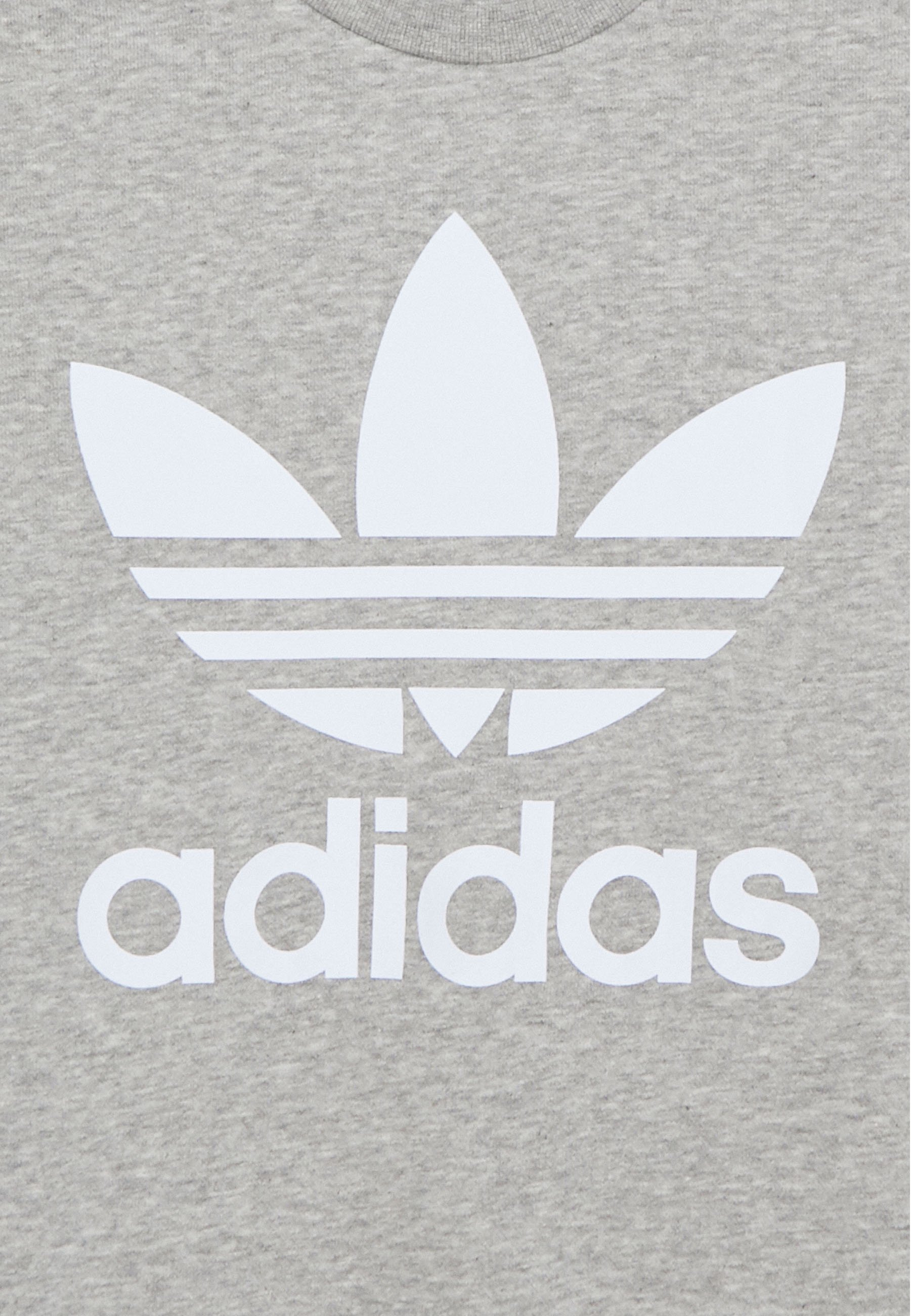 Adidas Originals Trefoil Crew - Sweatshirt Medium Grey Heather