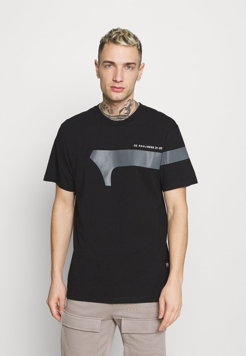 G-Star - 1 REFLECTIVE GRAPHIC R T  - T-shirt con stampa - black