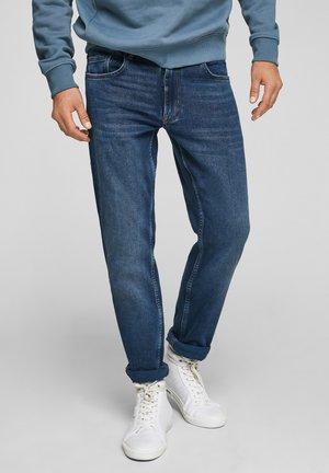 REGULAR MET GARMENT WASHED EFFECT - Slim fit jeans - dark blue