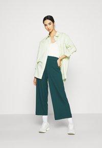 Monki - Trousers - dark green - 1