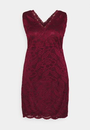 VMJANNE DRESS - Shift dress - cabernet
