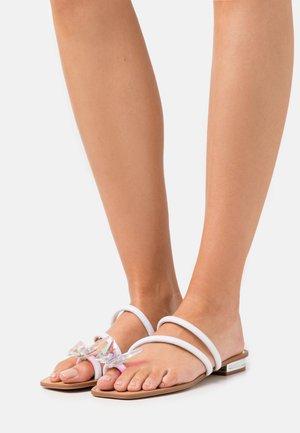 GARBERIA - T-bar sandals - metallic multicolor