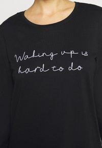 Hunkemöller - NIGHTIE R NECK WAKING - Noční košile - black - 5