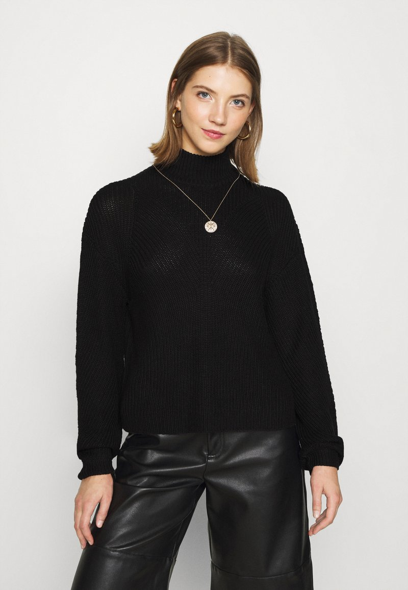 Noisy May - NMSIAN HIGH NECK  - Jumper - black