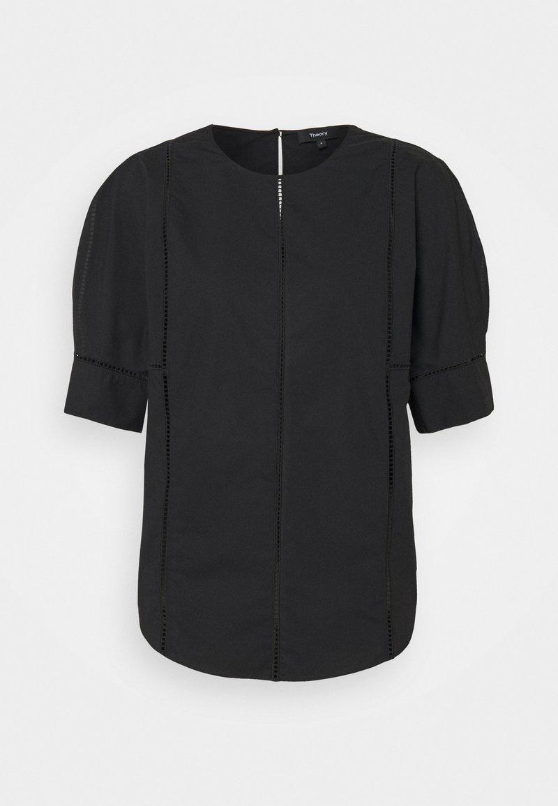 Theory - ROUND SLEEVE LADDER - Print T-shirt - black