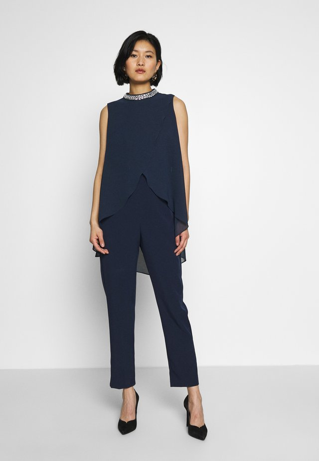 SPLIT FRONT NECK - Jumpsuit - ink