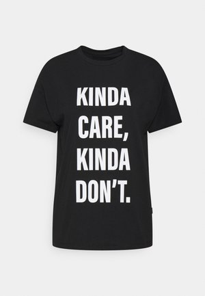 NMWENDY KINDA - T-shirts med print - black