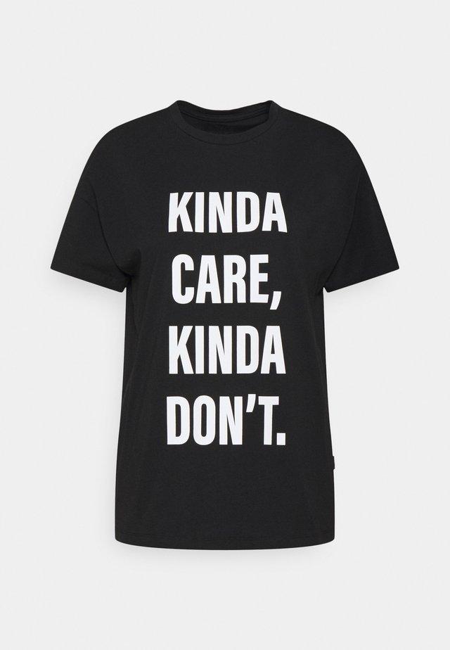 NMWENDY KINDA - T-shirts print - black