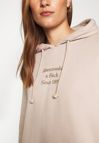Abercrombie & Fitch - GEL LOGO SNAP POPOVER - Hoodie - pink - 3