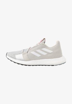 SENSEBOOST GO - Neutral running shoes - grey one/footwear white/shock pink