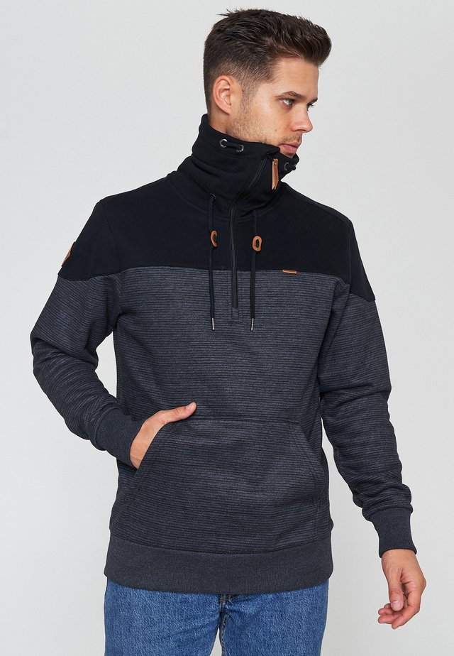 Sweatshirt - black / black mel.