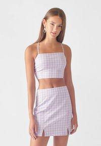 PULL&BEAR - A-line skirt - mauve - 4