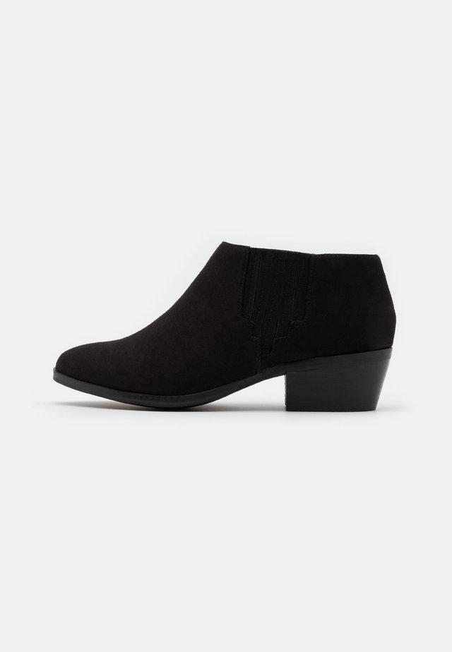 WIDE FIT LOW  - Ankle boot - black