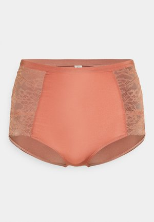EMELIE CLASSIC HIGH - Pants - dark dusty pink