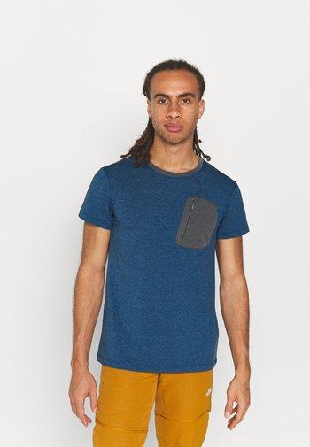 MUNDEN - T-shirt z nadrukiem - navy blue