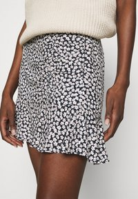 Abercrombie & Fitch - CINCH DETAIL SKIRT - A-line skirt - navy - 5