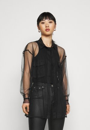 SHEER SHIRT - Blouse - black