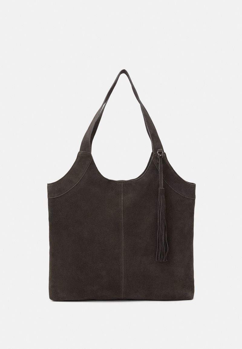 Anna Field - LEATHER - Tote bag - anthracite