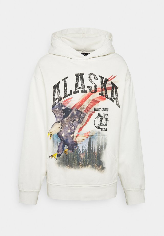 ALASKA SCREEN PRINT HOODIE - Sweat à capuche - ecru