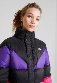 Fila - REILLY PUFF JACKET - Winter jacket - black/tillandsia purple/pink yarrow - 3