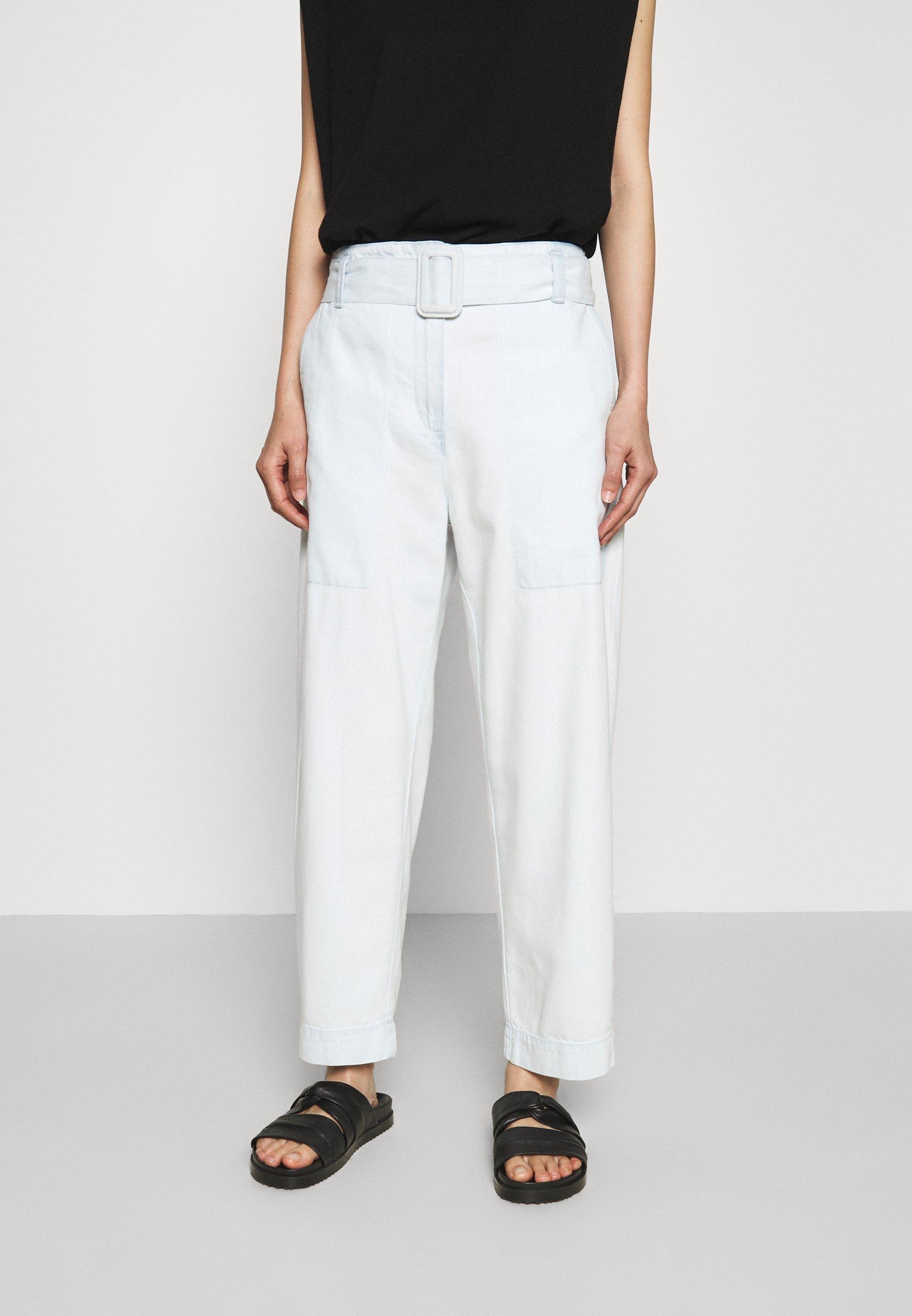 Women BELTED PANTS - Straight leg jeans