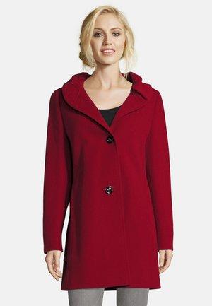 MIT STEHKRAGEN - Short coat - dark red