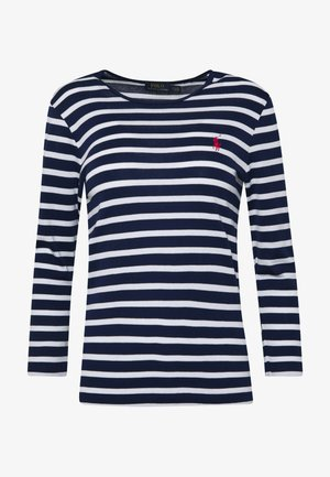 STRIPE - Maglietta a manica lunga - holiday navy